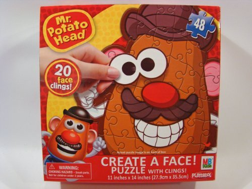 Mr Potato Head Create A Face 48 Piece Jigsaw Puzzle With Face Clings front-975530
