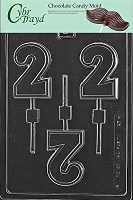 Cybrtrayd L047 No. 2 Lolly Chocolate Candy Mold with Exclusive Cybrtrayd Copyrighted Chocolate Molding Instructions