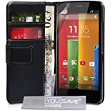 Yousave Accessories PU Leather Wallet Cover for Motorola Moto G