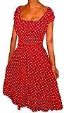 Funfash Women's Dress Red White Polka Dot Rockabilly Retro Dress Size Large 9 11