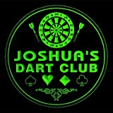 4x ccts0038-g JOSHUA'S Dart Club Game Room Bar Beer 3D Engraved Drink Coasters
