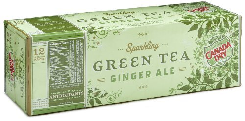 Canada Dry Green Tea Ginger Ale, 12pk, 12 oz Cans (Can Green Tea compare prices)