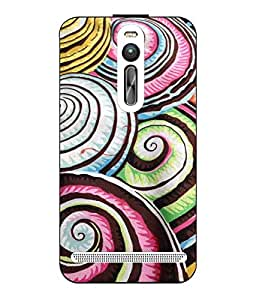 Snazzy Printed Multicolor Hard Back Cover For Asus Zenfone 2