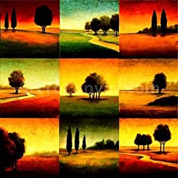 35W x 35H Landscape Perspectives by Gregory Williams - Stretched Canvas w/ BRUSHSTROKES