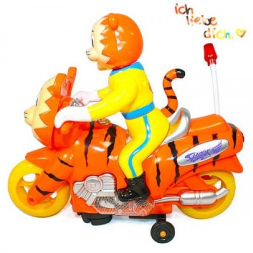 Cute Tiger On Tiger Motorbike Electric Toy By Preciastore