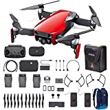 DJI Mavic Air Fly More Combo 2018 Version Starter Bundle (Red)
