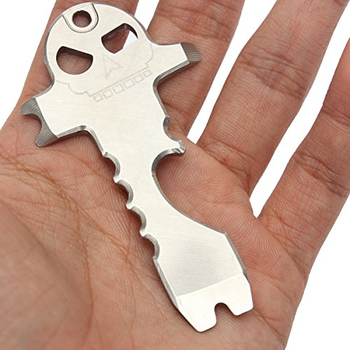 Multi-Functional Pocket Gadget Skull Bottle Opener Keychain