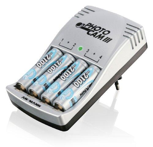 Ansmann Chargeur 4 accus LR03/LR06 Ni-MH / NiCd Microprocesseur