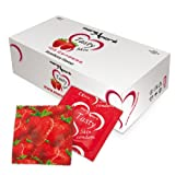 MoreAmore Condoms 100 Pack - Tasty Skin - Strawberry Flavoured & Extra Lubricated