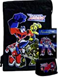 Transformers Black Drawstring Bag + Wallet & Stickers