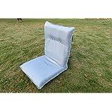 """Amaze"" Portable Light Weight Folding Floor Meditation Yoga Adjustable Back Rest Chair Mat -Large - GREY"