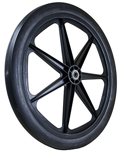 "Marathon 24x2.0"" Flat Free Cart Tire on Plastic Rim, 3/4"" Bearing"