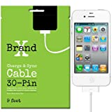 9 ft 30 Pin Cable – Compatible with Apple iPhone 4s, iPhone 4, iPad, iPod Touch – Charge and Sync