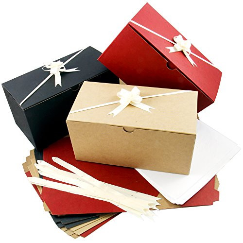 Set of 10 Colored Gift Boxes (9x4.5x4.5
