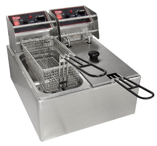 Grindmaster-Cecilware EL2X6 Budget Countertop Electric Fryer, 6-Pound