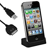 "mumbi USB Dockingstation iPhone 4 4S Dock / Basisstation inkl. USB Datenkabel mit Line OUTvon ""mumbi"""