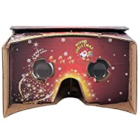 SeresRoad®** Christmas Special Version** Unassembled DIY Google Cardboard Cellphone Valencia Quality 3d Vr Virtual Reality 3D Glasses for iPhone Samsung HTC Moto X Nexus 5 Cellphones (Christmas Special version) from SeresRoad