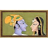 Radha Krishna - Water Color Painting On Paper - Artist: Kailash Raj