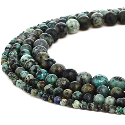 RUBYCA Natural African Turquoise Gemstone Round Loose Beads for DIY Jewelry Making 1 Strand - 8mm (Soul Gem Purple compare prices)
