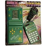 PACK de Tetris + Reloj + Calculadora para niños - Mod.EV-3000 Color Verde