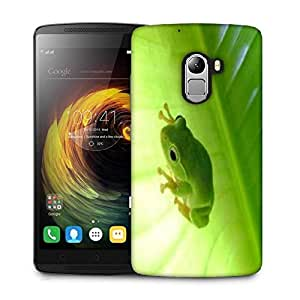 Snoogg Green Frog Designer Protective Phone Back Case Cover For Lenovo Vibe K4 Note