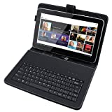 10 inch Leather Keyboard Case for 10.1 Tablet PC Epad Apad MID
