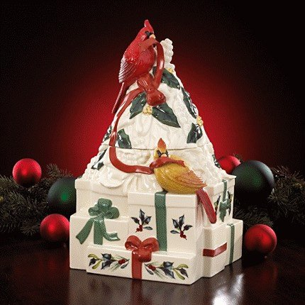 Lenox Winter Greetings Cookie Jar Figural