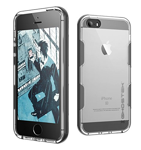 Ghostek Cloak Series for Apple iPhone SE 5S 5 Slim Protective Armor Case Cover Tempered Glass (Space Gray) (Iphone 5s Body Space Gray compare prices)