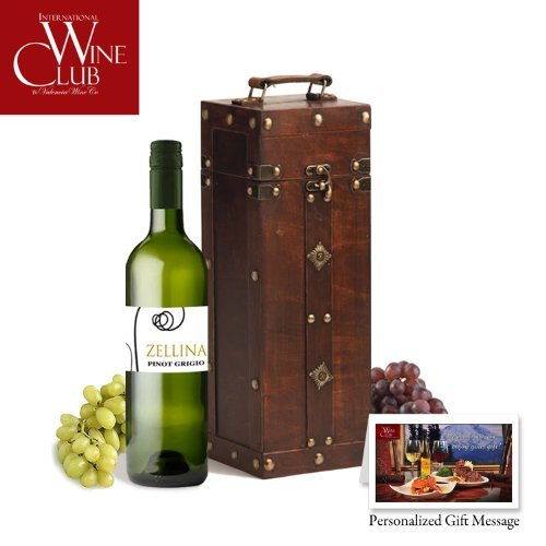 Antique Wood Wine Gift Box - Great gift ideas for business, co-workers, family or friend. Free shipping and delivery right to your door step.