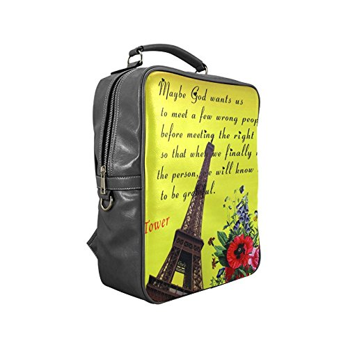 Custom Fashion Eiffel Tower Paris Square Backpack coupon codes 2015