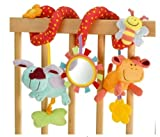 ELC Blossom Farm Twist Around Spiral Baby Cot Pram Toy Wrap around friends