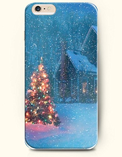 Oofit Apple Iphone 6 Plus Case 4.7 Inches - Merry Christmas Xmas Tree And House In The Snow front-611801
