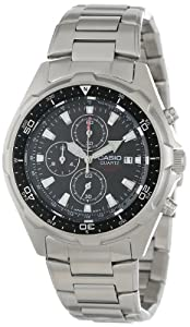 Casio Men's AMW330D-1AV Dive Chronograph Stainless Steel Watch