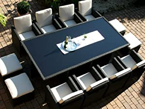 polyrattan rattan geflecht garten sitzgruppe. Black Bedroom Furniture Sets. Home Design Ideas