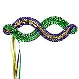 Mardi Gras Sequin Eye Mask - Green Yellow Purple W41S37B
