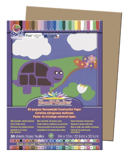 SunWorks® Construction Paper 50 SHEETS 9X12 IN LIGHT BROWN ALL PURPOSE - 1
