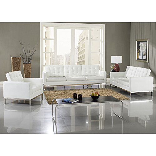 Florence Knoll Baliette Marcel Breuer Laccio Sofa Set White Fmp252165