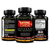 Peak Nitric Oxide Booster And L-Arginine Supplement 120 Capsules - MOST EFFICIENT Pre Workout NO2 For Enhanced...