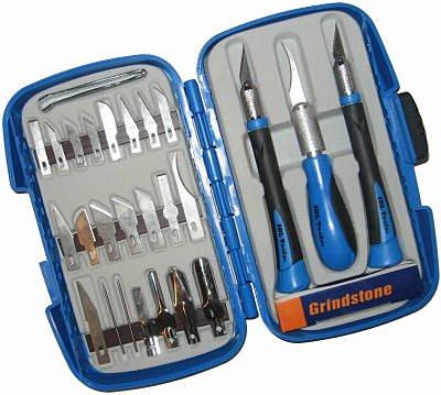 Idl Tool International TE01-812 29-Piece Hobby Knife/Blade Set
