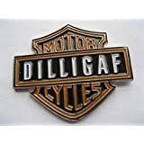 Metal Enamel Pin Badge Brooch DILLIGAF (Do I Look Like I Give A F...?) Harley Davidson Biker