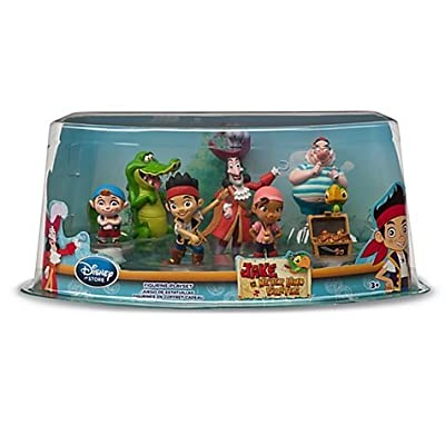Disney Store Disney Jr. Jake and the Never Land/Neverland Pirates 7 Piece Action Figure Figurine Gift Play Set by Disney