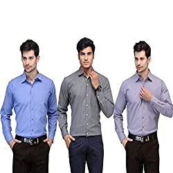 Vicbono Men's Formal Shirt Pack of 3 - 151617-M