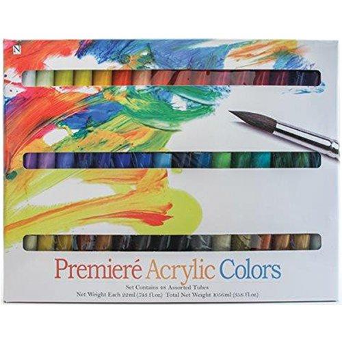 Pro-Art Premiere Acrylic Paints, 22ml, Assorted Colors, 48-Pack (Acrylic Paint Set 48 Count compare prices)