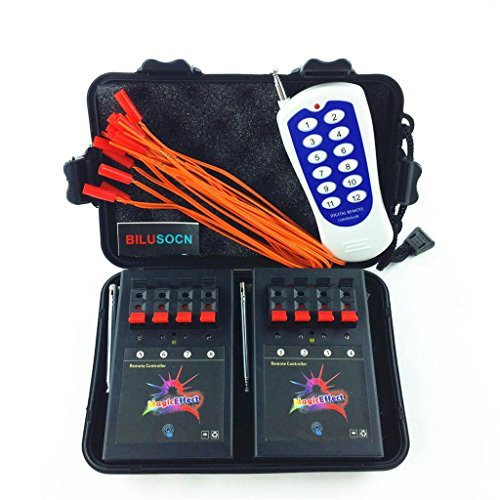 BILUSOCN 8 Cue Wireless Firework Firing Ignition System w/ Remote & 16 FREE Igniters (Electronic Firing System compare prices)