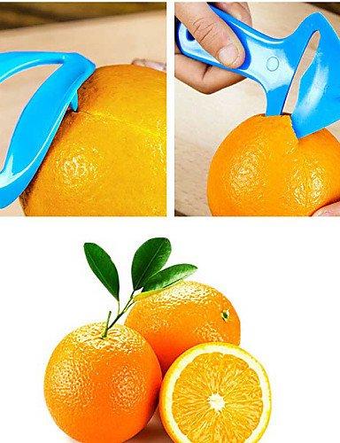 Wi&Lit Multifunktions-orange Kunststoff-Gerät Orange Schäler zufällige Farbe