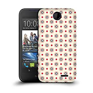 MobileGlaze Designs Geometric Floral Print Khaki Hard Back Case Cover for HTC DESIRE 310