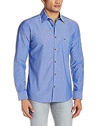 Park Avenue Men's Casual Shirt (8907117088971_PCSZ00817-B5_40_Medium Blue)