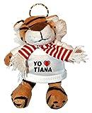 Tigre de peluche (llavero) con Amo Tiana en la camiseta (ciudad / asentamiento)