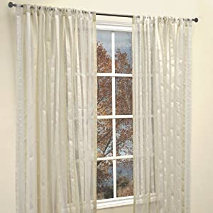 Famous Home Fashions Picadilly White Ivory 2-Piece Window Panels