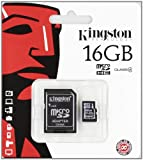 CE - Kingston 16 GB Class 4 MicroSDHC Flash Card with SD Adapter SDC4/16GB